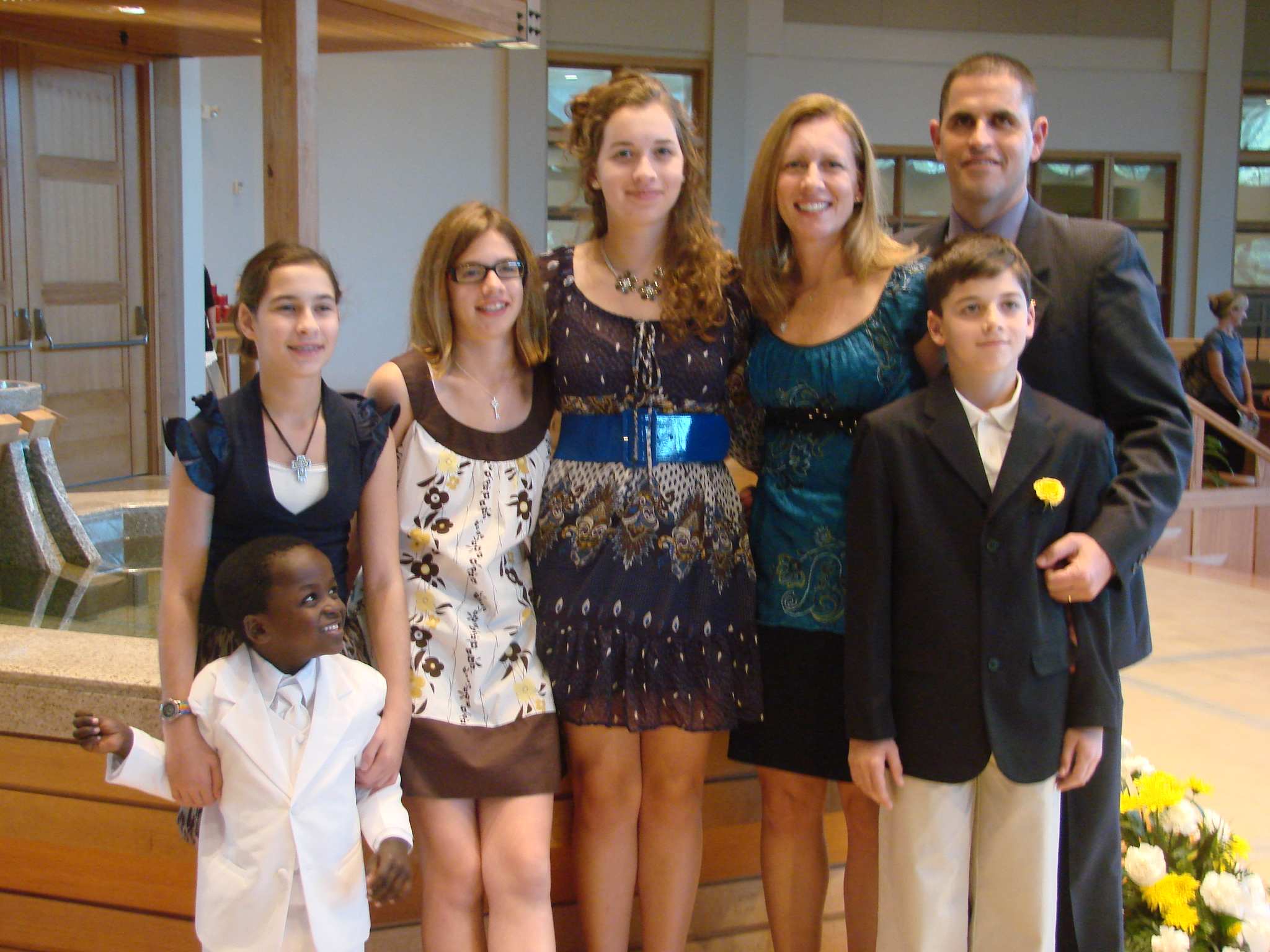 Tommy's baptism in 2011